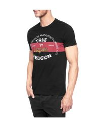 True Religion | Black Denim And Goods Mens T-shirt for Men | Lyst