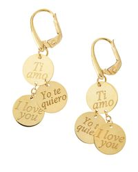 Roberto Coin | Metallic 18 Karat Gold Love Dangle Earrings | Lyst