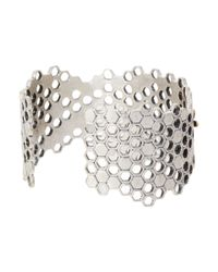 Lucky Brand - Metallic Honeycomb Cuff Bracelet - Lyst