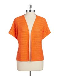 Jones New York | Orange Loose Knit Shrug | Lyst