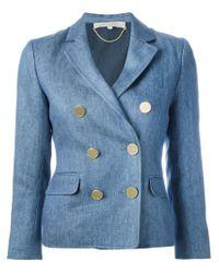 Vanessa Bruno | Blue Double Breasted Denim Blazer | Lyst