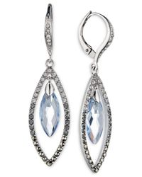 Judith Jack | Metallic Silver-tone Crystal Drop Earrings | Lyst