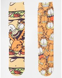 ASOS - Multicolor 2 Pack Socks With Garfield Design for Men - Lyst