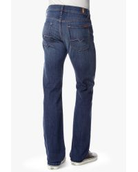 7 For All Mankind | Blue Luxe Performance: Standard Classic Straight In Hawaiian Sun for Men | Lyst