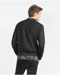 Zara | Black Zip Jacket for Men | Lyst