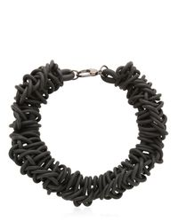 Alienina - Black Odyssee Rubber Necklace - Lyst