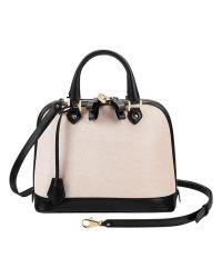 Aspinal - Natural Hepburn Mini Leather Grab Bag - Lyst
