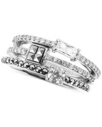 Judith Jack - Metallic Crystal (1-9/20 Ct. T.W.) And Marcasite Accent Ring Set - Lyst