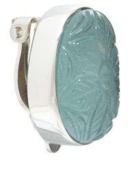 Stephen Dweck - Blue Silver Carved Aquamarine Flower Earrings - Lyst