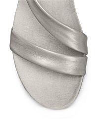 Aerosoles | Metallic Rediscover Leather Sandals | Lyst