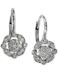 Effy Collection | Black Effy Diamond Drop Earrings (1/4 Ct. T.w.) In 14k White Gold | Lyst