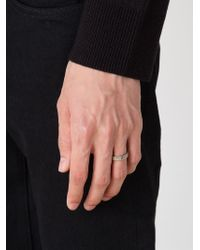 Christian Dada | Metallic Initial Band Ring | Lyst