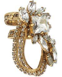 Erickson Beamon   Metallic Stratosphere Crystal & Faux-Pearl Ring   Lyst