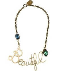 Lanvin | Metallic Beautiful Pendant Necklace | Lyst