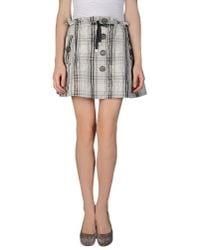Patrizia Pepe | Gray Mini Skirt | Lyst