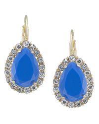 Carolee | Rio Radiance Blue Teardrop Earrings | Lyst