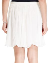 Polo Ralph Lauren - Natural Georgette Skirt - Lyst