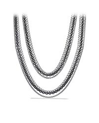 David Yurman - Metallic Three-row Chain Necklace - Lyst
