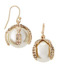Lulu Frost | White Bloom Simulated Pearl Earrings | Lyst