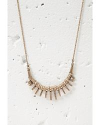 Forever 21 | Pink Faux Stone Matchstick Necklace | Lyst