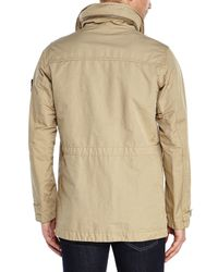 Stone Island | Natural Khaki Stand Collar Jacket for Men | Lyst