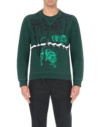 KENZO - Green Tiger Bamboo Cotton-jersey Sweatshirt for Men - Lyst