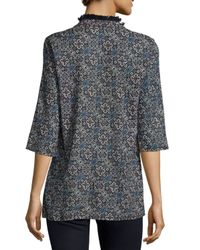 Figue - Blue Jasmine Embellished Tunic - Lyst
