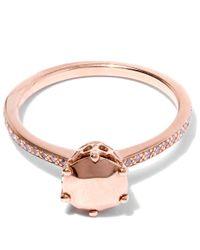 Anna Sheffield | Metallic Gold White Diamond Bea Arrow Ring | Lyst