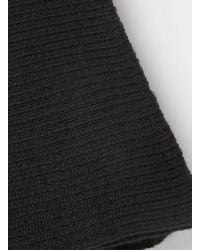 TOPMAN - Black Ribbed Scarf for Men - Lyst