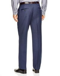Hart Schaffner Marx | Blue Platinum Label Solid Classic Fit Trousers - 100% Bloomingdale's Exclusive for Men | Lyst