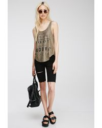 Forever 21 - Plus Size Metallic Graphic Top - Lyst
