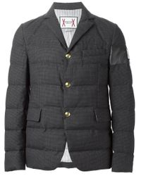 Moncler Gamme Bleu - Gray Padded Blazer for Men - Lyst