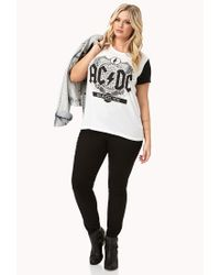 Forever 21 - White Plus Size Ac/dc Black Ice Tee - Lyst