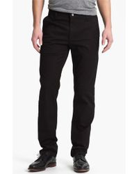 AG Jeans | Black Slim Straight Leg Chinos for Men | Lyst