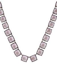 Larkspur & Hawk | Pink Silver Quartz Bella Riviere Necklace | Lyst