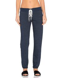Monrow | Blue Football Sweatpant | Lyst