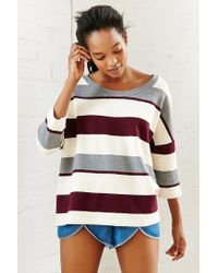 BDG - Natural Striped + Structured Tee - Lyst