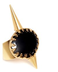 Ela Stone - Metallic Perla Hematite Spike Ring - Lyst