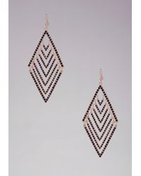 Bebe - Black Diamond Shaped Earrings - Lyst