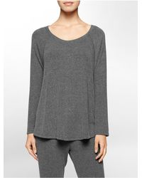 Calvin Klein | Gray Performance Jersey Top | Lyst
