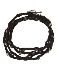 Spinelli Kilcollin - Black Braided Wrap Bracelet - Lyst
