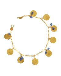 Gurhan | Dangling Flake Blue Sapphire Charm Bracelet | Lyst
