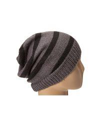 Hat Attack - Black Stripe Beanie - Lyst