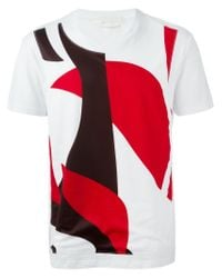 Alexander McQueen - White Abstract-Print T-Shirt for Men - Lyst