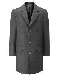 Skopes | Gray Finchley Overcoat for Men | Lyst