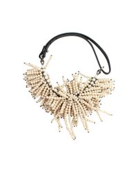 Brunello Cucinelli - Natural Riverstone Fringe Necklace - Lyst