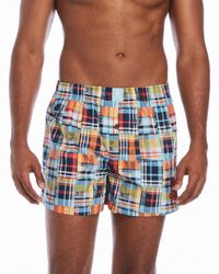 Psycho Bunny | Blue Printed Woven Boxer Briefs for Men | Lyst