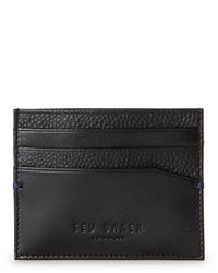 Ted Baker - Black Contrast Leather Card Case - Lyst
