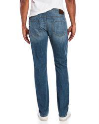 PAIGE - Blue Sanford Destructed Federal Jeans for Men - Lyst
