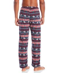 Lucky Brand - Red Christmas Fleece Pajama Pants for Men - Lyst
